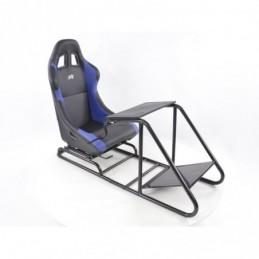 Siège de jeu FK Simulateur de course de siège de jeu eGaming Seats Estoril noir / bleu, Sièges de Simulation