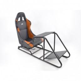 Siège de jeu FK Simulateur de course de siège de jeu eGaming Seats Estoril noir / orange, Sièges de Simulation