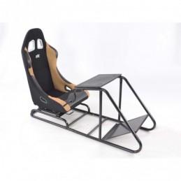 Siège de jeu FK Simulateur de course de siège de jeu eGaming Seats Estoril noir / beige, Sièges de Simulation