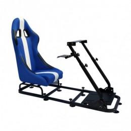 Siège de jeu FK Simulateur de course de siège de jeu eGaming Seats Interlagos bleu / blanc, Sièges de Simulation