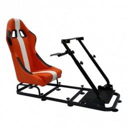 Siège de jeu FK siège de jeu simulateur de course eGaming Seats Interlagos orange / blanc, Sièges de Simulation