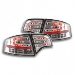 Kit feux arrières LED Audi A4 berline type 8E 04-07 chrome, A4 B7 04-08