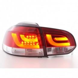 Kit feux arrières LED VW Golf 6 type 1K 2008-2012 rouge / clair, Golf 6