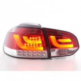 Set feux arrières LED VW Golf 6 type 1K 2008 à 2012 rouge / clair avec clignotants LED, Golf 6
