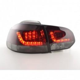 Kit feux arrières à LED VW Golf 6 type 1K 2008-2012 rouge / noir pour conduite à droite, Golf 6