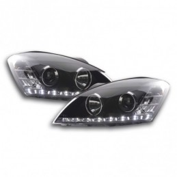 Jeu de phares Daylight LED DRL look Kia cee'd 5 portes. Type ED 06-09 noir, Eclairage Kia