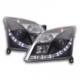 Phare Daylight LED DRL look Opel Vectra C 02-05 noir pour conduite à droite, Vectra C