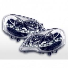 Phare Daylight LED feux de jour VW Polo 4 9N3 chrome, Polo IV 9N/9N3 01-09