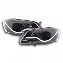 Phare Daylight LED DRL look VW Passat B7 3C 10- noir, Passat B7 10-15
