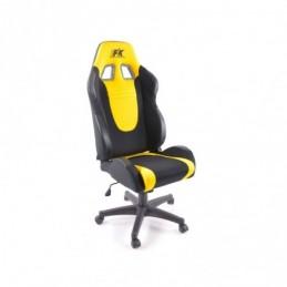 FK siège de sport chaise de bureau pivotante Racecar noir / jaune chaise de direction chaise pivotante chaise de bureau, Sièges