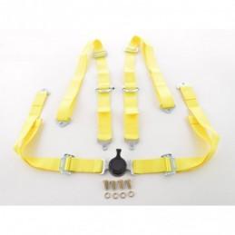 Ceinture harnais ceinture 4 points racing ceinture universelle jaune, Ceintures / Harnais