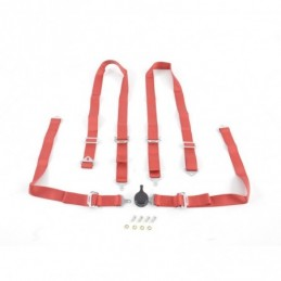 Harnais ceinture harnais 4 points harnais racing universel rouge, Ceintures / Harnais
