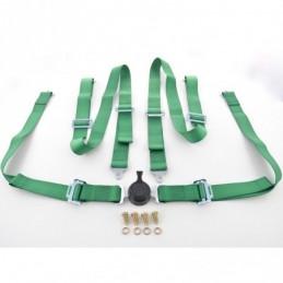 Harnais ceinture harnais 4 points harnais racing universel vert, Ceintures / Harnais