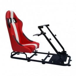 Siège de jeu FK Simulateur de course de siège eGaming Seats Interlagos rouge / blanc, Sièges de Simulation