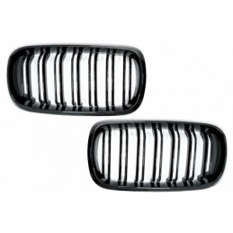 Central Grilles Kidney suitable for BMW X5 F15 X6 F16 (2014-2018) X5M X6M Double Stripe Design M-Package Sport, X6 F16