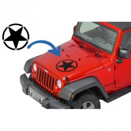 Sticker Star Universal suitable for Jeep Wrangler JK Truck or Other Cars Black, Jeep