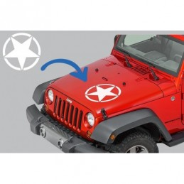 Sticker Star Universal suitable for Jeep Wrangler JK Truck or Other Cars White, Jeep