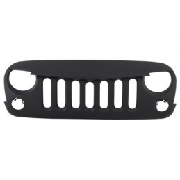 Central Front Grille suitable for JEEP Wrangler / Rubicon JK (2007-2017) Angry Bird Design New Style Matte Black, Jeep