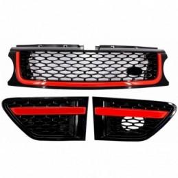 Calandre avant et prise dair laterales Land Rover Range Rover Sport Facelift (2010-2013) Autobiography Look Black Red Edition, L