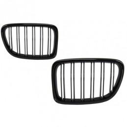 Central Grilles Kidney Grilles suitable for BMW X1 E84 (2009-2014) Piano Black Double Stripe Design, X1 E84