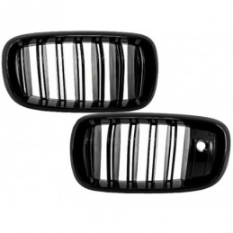 Central Grilles Kidney suitable for BMW X5 X6 F15 F16 (2014-up) X5M X6M Double Stripe Design M-Package Sport with Camera, X6 F16