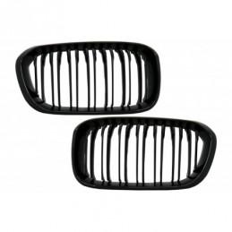 Central Kidney Grilles suitable for BMW 1 Series F20 F21 LCI (2015-2018) Double Stripe M1 Design Piano Black, Nouveaux produits