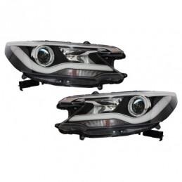 Headlights LED suitable for HONDA CR-V 2012-2014 RM4 Pre-Facelift Light Bar Facelift Design, Eclairage Honda