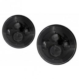 7 Inch CREE LED Headlights suitable for Jeep Wrangler JK TJ LJ Land ROVER Defender Mercedes W463 Black, ECLAIRAGE AUTO