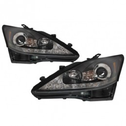 LED DRL Headlights Dynamic Turn Light Signal suitable for LEXUS IS XE20 (2006-2013) Black Edition, Eclairage Lexus