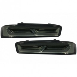 Full LED Taillights suitable for Chevrolet Camaro (2015-2017) Sequential Dynamic Turning Lights Smoke, Eclairage Chevrolet