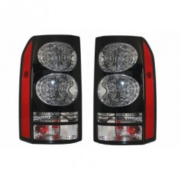 LED Taillights suitable for Land Rover Discovery III 3 & IV 4 (2004-2009) (2009-2016) Black Conversion to Facelift Look, Eclaira