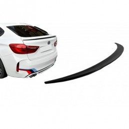 Trunk Boot Spoiler suitable for BMW X6 F16 (2015-Up) Sport Performance Design Piano Black, X6 F16