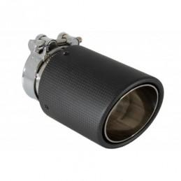 Universal Exhaust Muffler Tip Carbon Fiber Matte Finish Inlet 6.8cm / 2.67inch, Accessoires