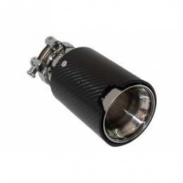Universal Exhaust Muffler Tip Carbon Fiber Glossy Finish Inlet 6.3cm/2.48inch, Accessoires