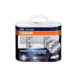 Lampe Halogène H1 Osram Night Breaker Unlimited 12V 55W, Ampoules / Feux de jour