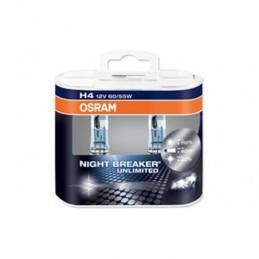 Lampe Halogène H4 Osram Night Breaker Unlimited 12V 60/55W, Ampoules / Feux de jour