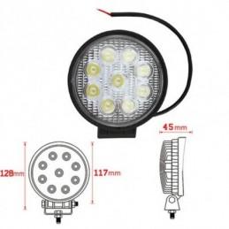LED feu de travail offroad - 27W/6500K/Blanc, Ampoules / Feux de jour