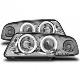 Projecteurs  avec 2 Angel Eyes  Audi A4 95-98, A4 B5 94-01