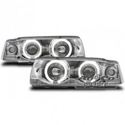 Projecteurs  avec 2 Angel Eyes  BMW E36 Berline, Serie 3 E36 Berline/Compact