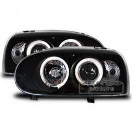 Projecteurs  avec 2 Angel Eyes  VW Golf 3, Golf 3
