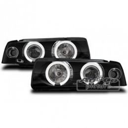 Projecteurs avec 2 Angel Eyes pour BMW 3 SERIE E36 BERLINE/TOUR./COMP., Serie 3 E36 Berline/Compact