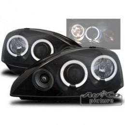 Projecteurs avec Angel Eyes pour OPEL CORSA (C), Corsa C