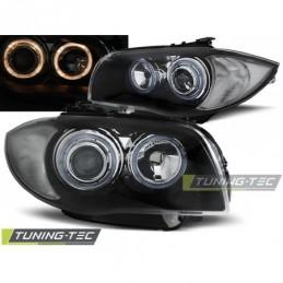 PHARES AVANTS ANGEL EYES BLACK fits BMW 1 E87/E81/82/88 04-11, Serie 1 E81/E87