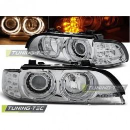 PHARES AVANTS ANGEL EYES CHROME LED INDICATOR fits BMW E39 09.95-06.03, Serie 5 E39