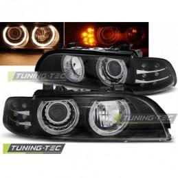 PHARES AVANTS ANGEL EYES BLACK LED INDICATOR BMW E39 09.95-06.03, Serie 5 E39