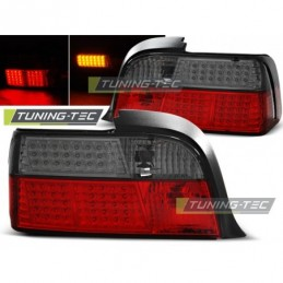 LED FEUX ARRIERE RED SMOKE fits BMW E36 12.90-08.99 COUPE, Serie 3 E36 Coupé/Cab
