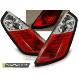 FIAT GRANDE PUNTO 09.05-09 RED WHITE LED, Grande Punto (199)