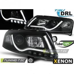 XENON PHARES AVANTS TUBE LIGHT DRL BLACK fits AUDI A6 C6 04-08, A6 4F C6 04-10