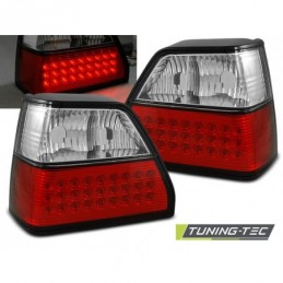 LED FEUX ARRIERE RED WHITE fits VW GOLF 2 08.83-08.91, Golf 2