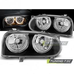 PHARES AVANTS ANGEL EYES BLACK fits VW GOLF 3 09.91-08.97, Golf 3